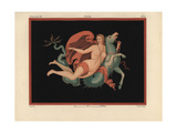 Nereid Sea Nymph in Mantle and Bracelets Riding on a Sea Monster Giclee Print