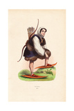 Nenets Man Wearing Fur Clothes, Shirt with Hood, Snow Shoes Giclee Print