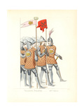 Uniforms of Italian Soldiers, 14th Century Giclee Print by Paul Mercuri