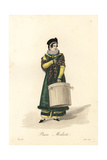 Milliner, Paris, Early 19th Century Giclee Print by Louis-Marie Lante