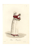 Flower Seller, Paris, Early 19th Century Giclee Print by Louis-Marie Lante