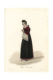 Female Knitter, Paris, Early 19th Century Giclee Print by Louis-Marie Lante