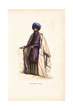 Persian Mullah or Priest in Turban, Embroidered Cape Giclee Print