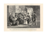 Cafe Au Lait Stand in a Paris Street, C. 1800 Giclee Print by P.L. Debucourt