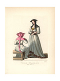 French Noblewoman, 15th Century Giclee Print by Paul Mercuri