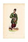 Armenian Merchant in Hat, Jacket, Pantaloons, Slippers and Sash Belt Giclee Print