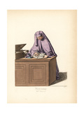 Costume of an Italian State Notary, 15th Century Giclee Print by Paul Mercuri