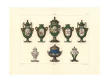 Decorated Vases Giclee Print by Edouard Garnier