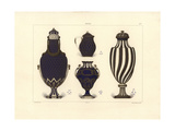Vases with Blue and Gold Decoration Giclee Print by Edouard Garnier