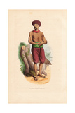 Common Indian Man in Short Trousers, Sash Belt and Turban Giclee Print