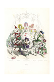 Flower Fairy Dancers at a Ball Giclee Print by Jean Ignace Grandville