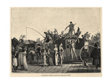 Parisians Attending Carnival in Costume on a Carriage, Circa 1800 Giclee Print by P.L. Debucourt