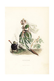 Sensitive Plant Flower Fairy, Mimosa Pudica Giclee Print by Jean Ignace Grandville