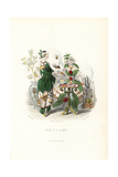 Tea and Coffee Flower Fairies Sharing Beverages Giclee Print by Jean Ignace Grandville