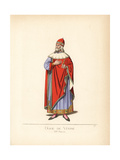 Doge of Venice, 13th Century Giclee Print by Paul Mercuri