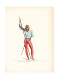 Costume of an Italian Infantryman, 15th Century Giclee Print by Paul Mercuri