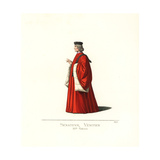 Venetian Senator, 15th Century Giclee Print by Paul Mercuri