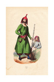 Kurdish Man Wearing a Distinctive Hat, Tunic and Pantaloons Giclee Print