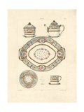Lunch Service Called Solitaire, 1779 Giclee Print by Edouard Garnier