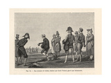 Parisians Playing a Game of Boules, Circa 1800 Giclée-Druck von Carle Vernet