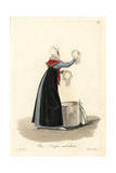Itinerant Seamstress, Paris, Early 19th Century Giclee Print by Louis-Marie Lante