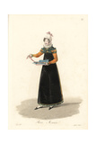 Haberdasher of Sewing Items, Paris, Early 19th Century Giclee Print by Louis-Marie Lante