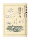 Sunamoguri, Tsuchikamuri and Shirohatsudake Mushrooms Giclée-Druck von Kan'en Iwasaki