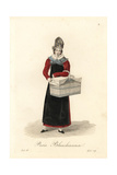 Laundress of Paris, Early 19th Century Giclee Print by Louis-Marie Lante