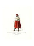 Costume of a Venetian Nobleman, 15th Century Giclee Print by Paul Mercuri