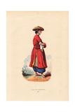Girl of Cochinchine (Vietnam) in Straw Hat, Ao Dai Tunic Giclee Print by H. Hendrickx