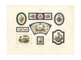 Decorative Furniture Plaques by Sevres Giclee Print by Edouard Garnier