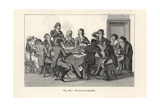 The Game of Roulette, Circa 1800, Paris Giclee Print