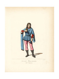 Young Man of Milan, 15th Century Giclee Print by Paul Mercuri