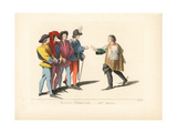 Four Tournament Judges and King of Arms, 15th Century Giclee Print by Paul Mercuri