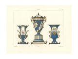 Vases in Blue, White, and Gold Giclee Print by Edouard Garnier