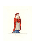 Vestment of an Italian Cardinal, 14th Century Giclee Print by Paul Mercuri