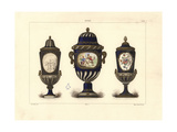 Three Sevres Vases with Lids Giclee Print by Edouard Garnier