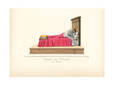 Woman in Bed from the 15th Century Giclee Print by Paul Mercuri