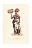 Young Girl, with Tattoos from Nuku Hiva Island (Madison), Polynesia Giclee Print by A. Vangauberche