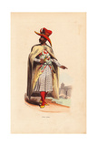 Arabian Nobleman in Hat, Cloak, Embroidered Robes, and Slippers Giclee Print by H. Hendrickx