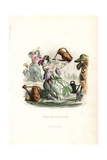 Thirsty Sweet-Pea Flower Fairy Giclee Print by Jean Ignace Grandville