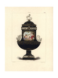 Vase with Animal Figures Giclee Print by Edouard Garnier