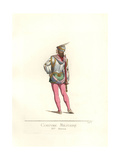 Italian Military Costume from the 15th Century Giclee Print by Paul Mercuri