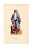 Persian Woman in Burqa with Window Veil, Pantaloons and Slippers Giclee Print by H. Hendrickx