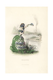 Forget Me Not Flower Fairy, Myosotis Scorpioides Giclee Print by Jean Ignace Grandville
