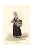 Crockery Seller, Paris, Early 19th Century Giclee Print by Louis-Marie Lante
