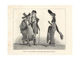 Dandies and Fashionable Women, Paris, Circa 1800 Giclée-Druck von Carle Vernet