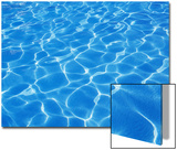 Speckled Water Pattern in Resort Swimmimg Pool Print by Chris Cheadle
