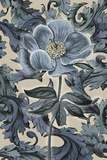 Indigo Deco Flower II Giclee Print by Emma Hill