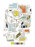 A Collection of Houses Giclee Print by Laure Girardin-Vissian